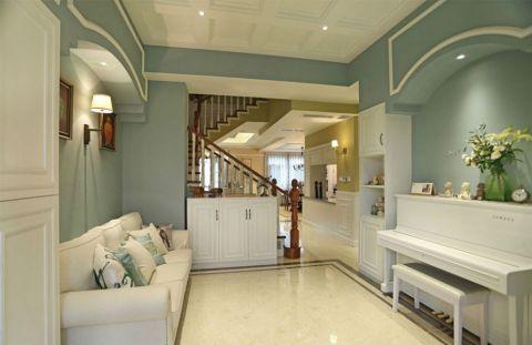 美式风格134平米复式房子装饰效果图