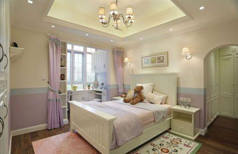 卧室窗帘美式风格效果图