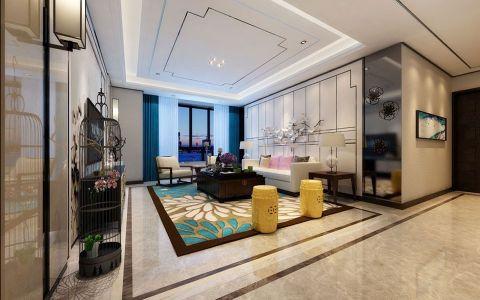 新中式风格300平米大户型房子装饰效果图