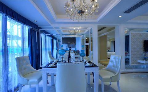 餐厅灯具简欧风格装修设计图片