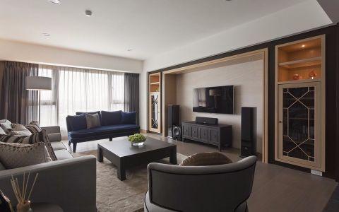 现代风格134平米三房两厅新房装修效果图
