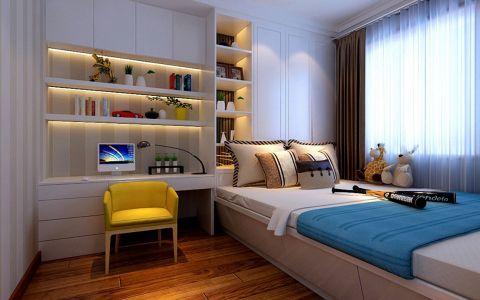 卧室书桌现代简约风格装潢图片
