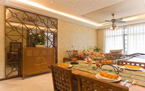 餐厅窗帘东南亚风格装潢设计图片