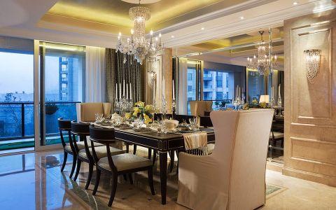 餐厅餐桌美式风格装潢效果图