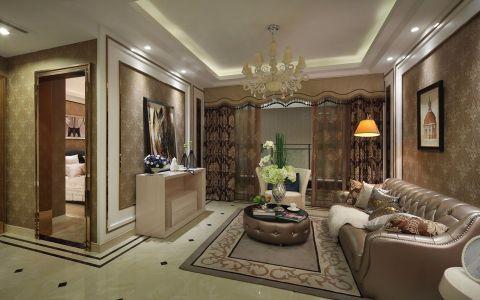 客厅灯具法式风格装潢图片