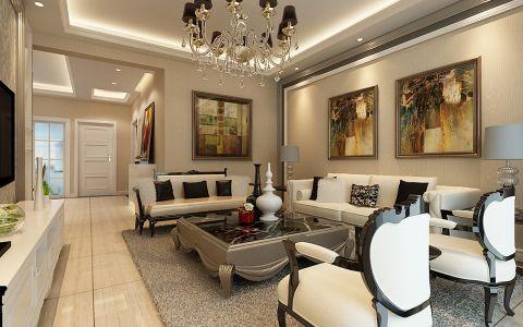 新古典风格120平米大户型室内装修效果图