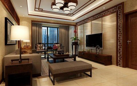 中式风格180平米大户型房子装饰效果图