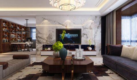 现代简约风格200平米套房室内装修效果图