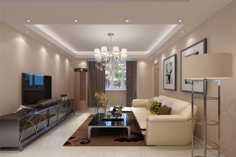 简约风格134平米3房2厅房子装饰效果图