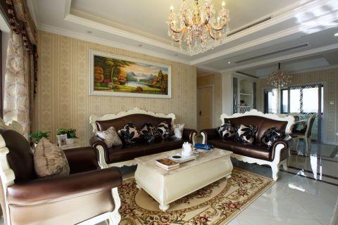 简欧风格127平米三房两厅新房装修效果图