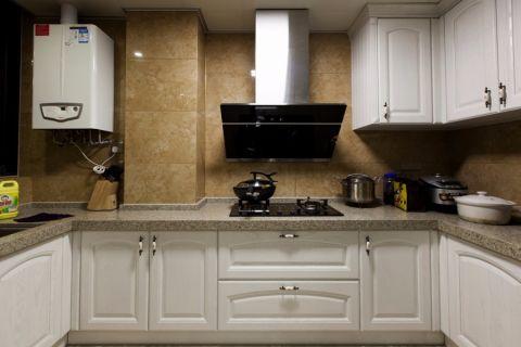 厨房背景墙简欧风格装饰图片