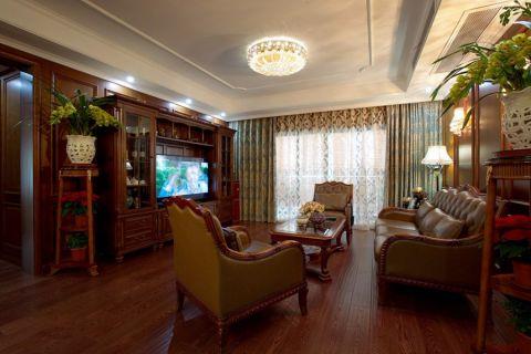 美式风格190平米大户型房子装饰效果图