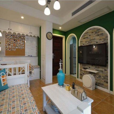 田园风格80平米2房2厅房子装饰效果图