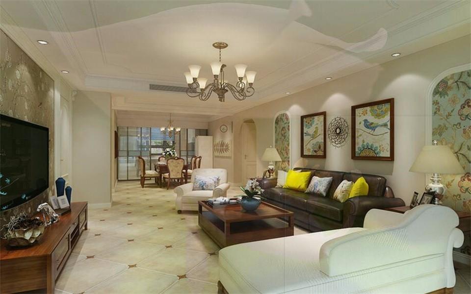 3室1卫1厅140平米美式风格