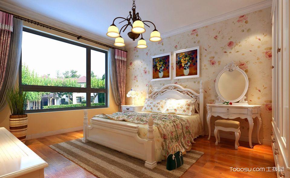 卧室白色梳妆台简欧风格装潢设计图片