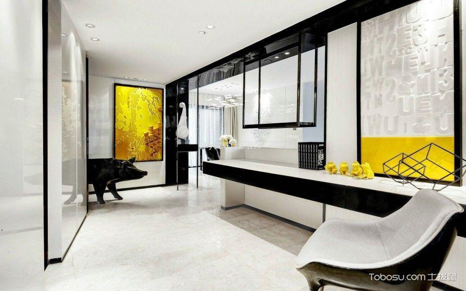 客厅白色地板砖现代风格装饰图片
