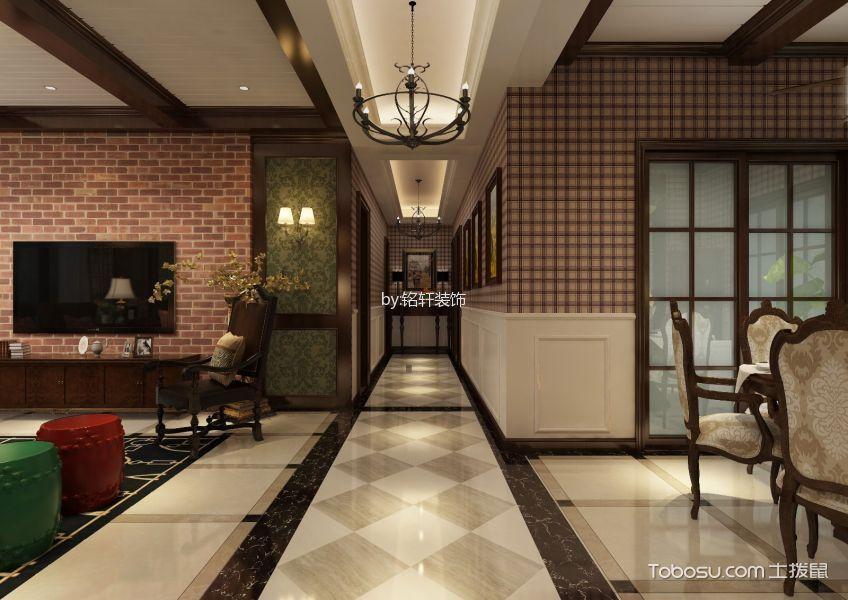 美式风格134平米套房房子装饰效果图