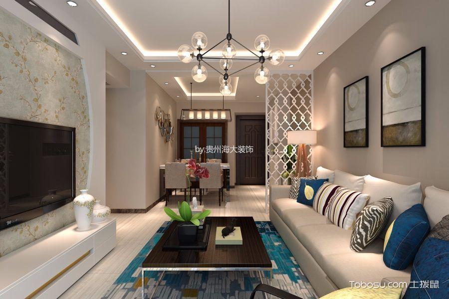 现代风格110平米三室两厅室内装修效果图