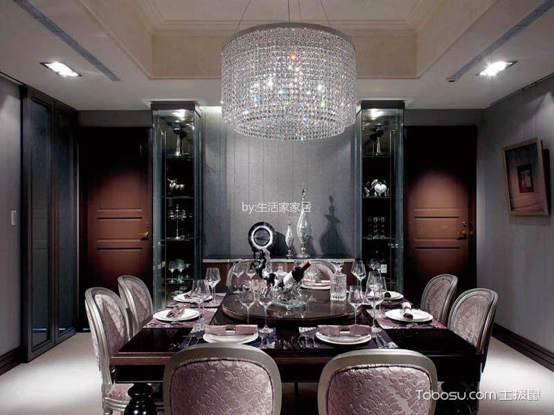 餐厅白色灯具简约风格装潢设计图片