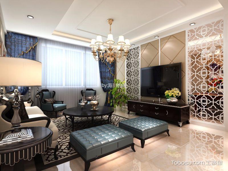 现代风格132平米三房两厅新房装修效果图
