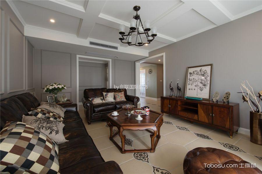 美式风格风格120平米三室两厅室内装修效果图