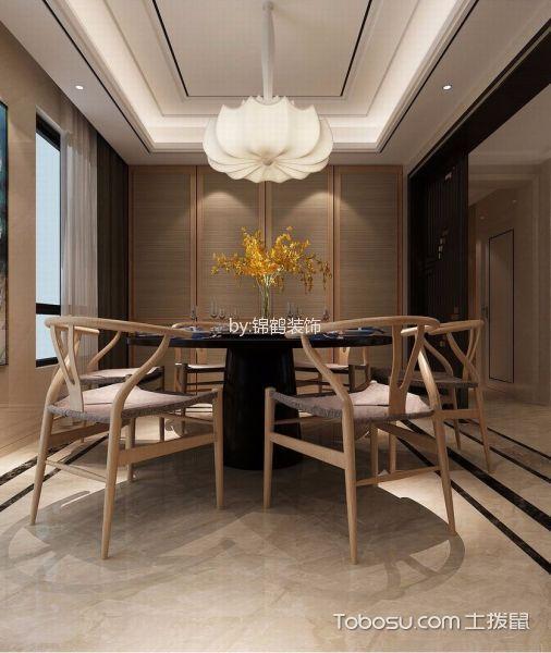 餐厅白色灯具新中式风格装饰效果图