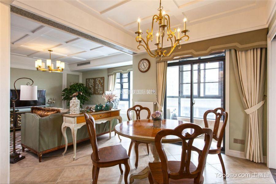 美式风格145平米三室两厅室内装修效果图