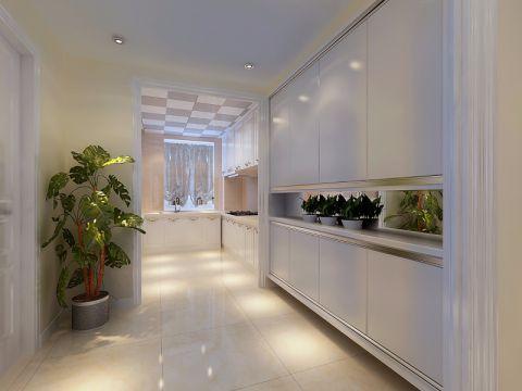 厨房地板砖现代简约风格装修设计图片