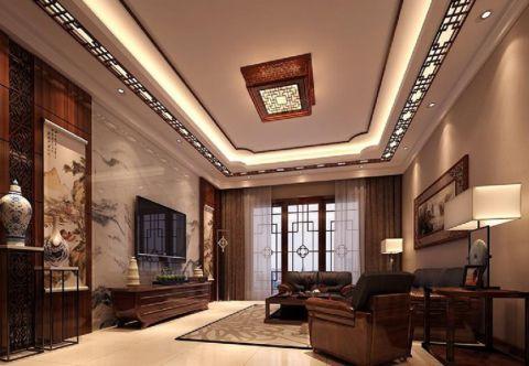 中式风格130平米四房两厅新房装修效果图