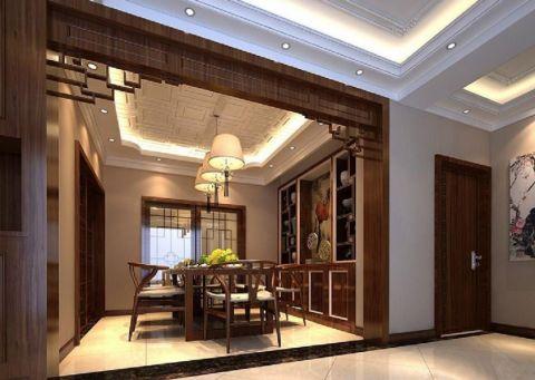 餐厅吊顶中式风格装饰效果图