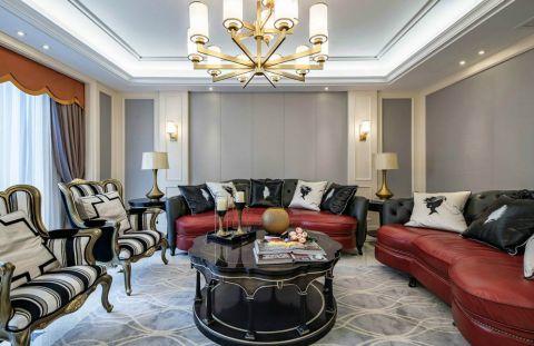 客厅灯具美式风格装饰图片