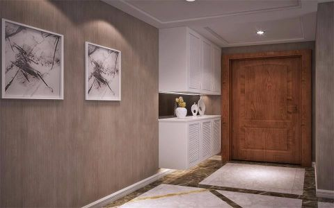 玄关衣柜现代简约风格装饰设计图片