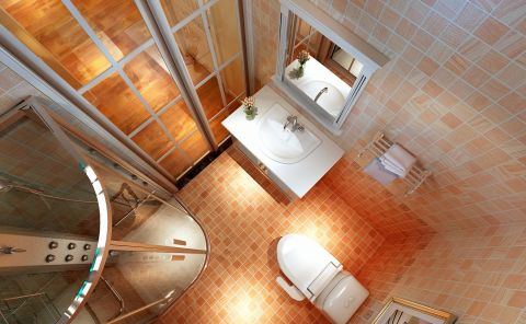 卫生间推拉门简欧风格装修设计图片