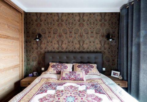 卧室背景墙后现代风格装潢图片