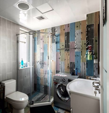 卫生间背景墙后现代风格装修设计图片