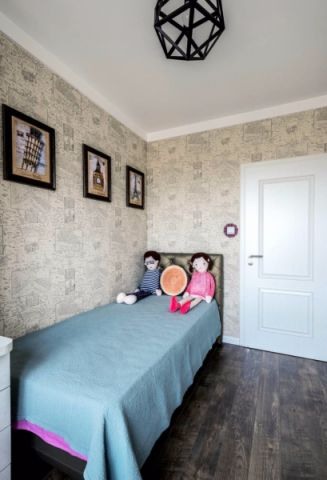 儿童房背景墙后现代风格装饰设计图片