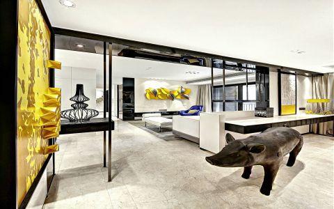 现代风格90平米两房两厅新房装修效果图