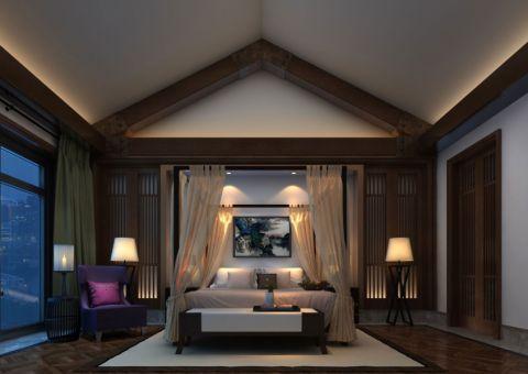 卧室彩色细节新中式风格装潢图片