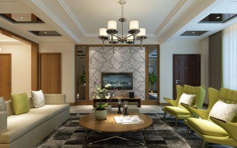 简约风格320平米三室两别墅室内装修效果图