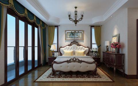 卧室窗帘美式风格装潢效果图