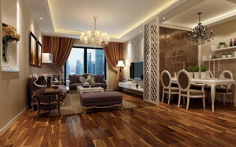客厅窗帘新古典风格装饰图片