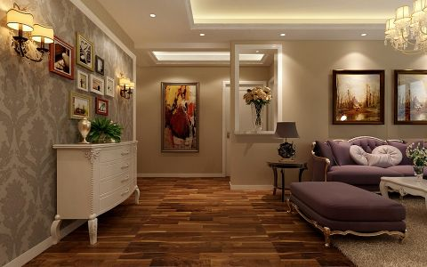 客厅照片墙新古典风格装潢图片
