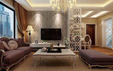客厅隔断新古典风格装修设计图片