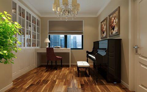 书房地板砖新古典风格装饰设计图片