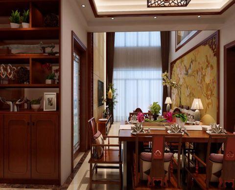 餐厅窗帘中式风格装饰设计图片