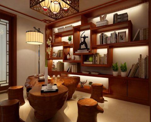 书房博古架中式风格装潢设计图片
