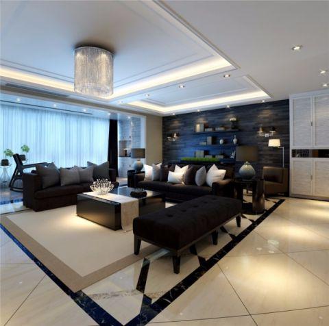 客厅简约风格装潢效果图
