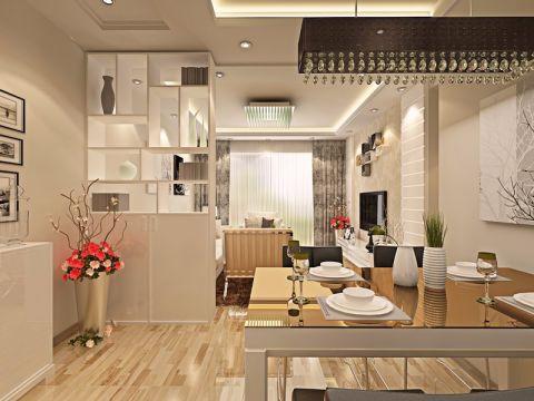 餐厅博古架现代风格装潢图片