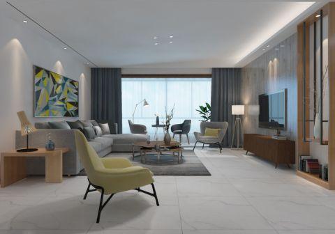 现代风格134平米套房房子装饰效果图