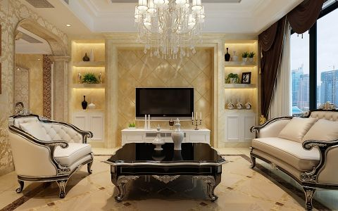 客厅窗帘欧式风格装修效果图